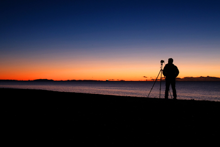 capturing the sunrise in Napier Imagens