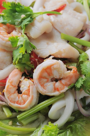 thai style seafood salad thai restaurant in banks photo