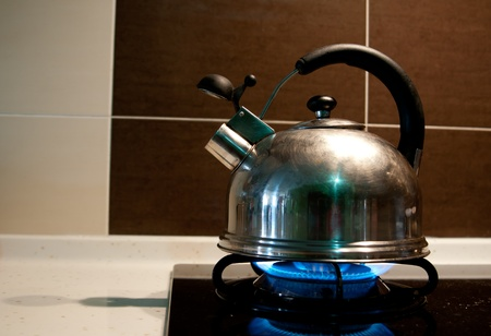 Model kettle boiling. Boil the water for using in your food. photo