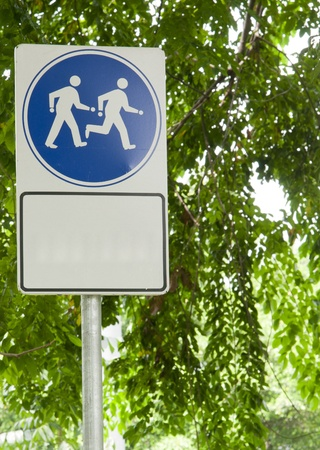 morning walk: Sign Exercise and Keep fit by Walk and Run in Thailand Garden in the morning. Stock Photo