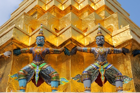 Wonderful Twin Giant in Bangkok Thailand photo