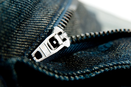 Close UP Jeans ZIp Stock Photo - 10385119