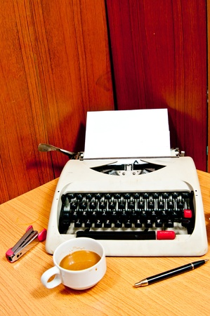 Typewriter the office which is busy at business working time Stock Photo - 12392706