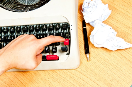 Typewriter the office which is busy at business working time Stock Photo - 12392734