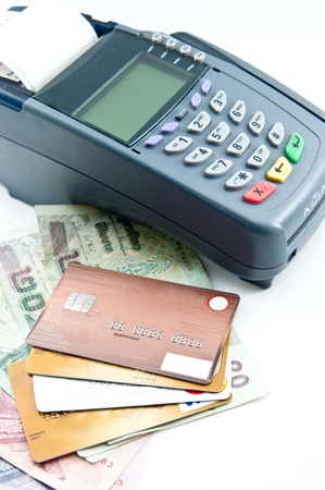payment machine and Credit card photo
