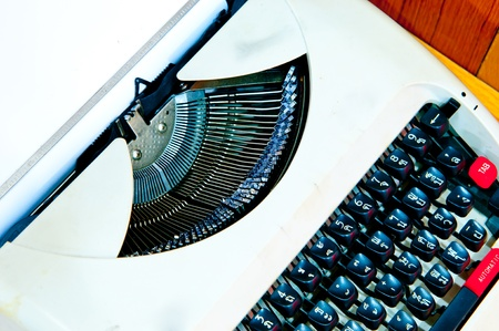 Typewriter the office which is busy at business working time photo