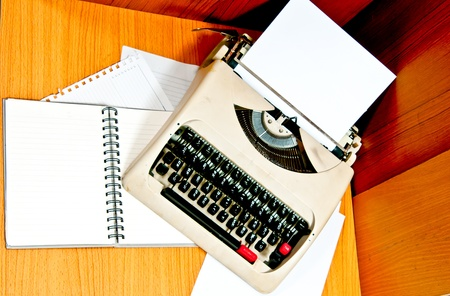 Typewriter the office which is busy at business working time Stock Photo - 12392724