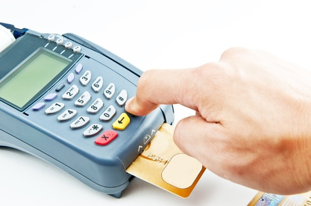 payment machine and Credit card Stock Photo - 12392722