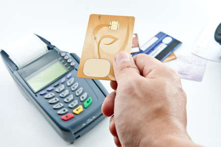 payment machine and Credit card Stock Photo - 12392640