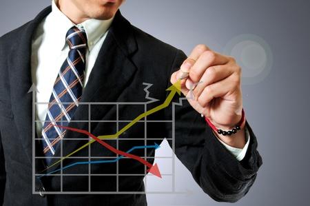 Businessman on thinking concept idea photo