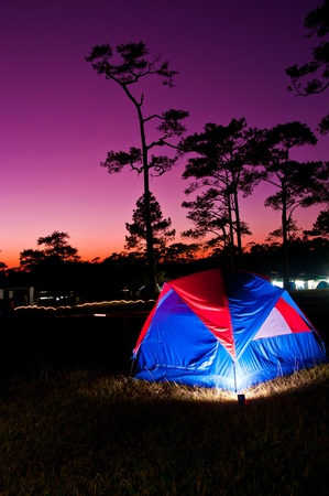 roughing: Camping tent