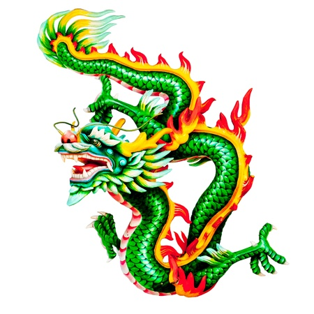 Dragons statue with White background  photo