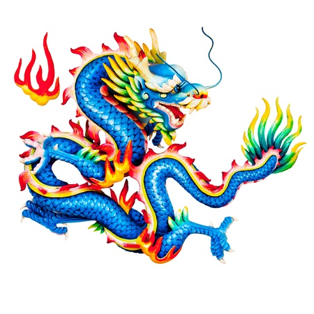 Dragons statue with White background