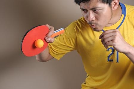 tennis de table: Joueur de tennis de table Banque d'images