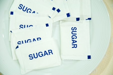 Sugar bag for mix coffee photo