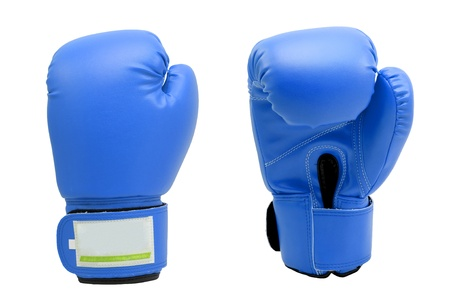boxing ring: Boxing gloves with white blackground