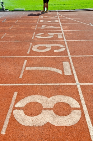 Running track numbers in Stadium  Stock Photo - 13810275