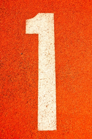 Running track numbers in Stadium  photo
