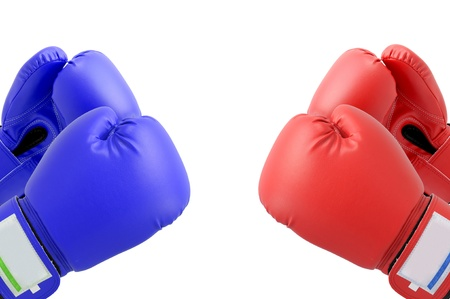 Boxing gloves with white blackground photo