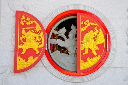 Chinese Door in Temple photo