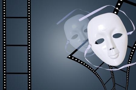 Drama Mask with Film photo