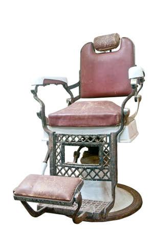 парикмахер: стул парикмахера Фото со стока