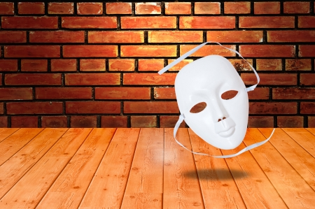 white drama masks in studio Stock Photo - 14256495
