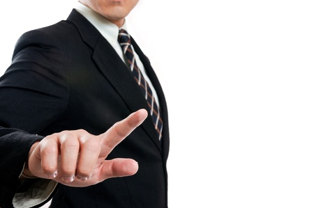 Touching businessman photo