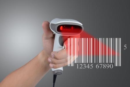 barcode: Scannen barcode Stockfoto