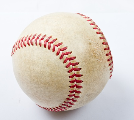 close up the old baseball in studio Stock Photo - 17546083