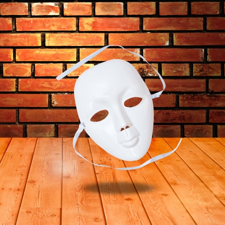 white drama masks in studio Stock Photo - 18514914