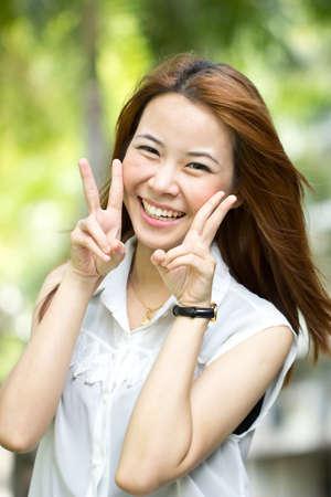 asian people: Portrait beautiful Asian Girl in studio Stock Photo