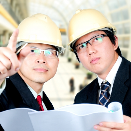 discussed: asia engineers discussed about thier project Stock Photo