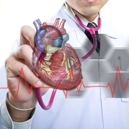 medico con paciente: M�dico revisar su concepto sano en el hospital