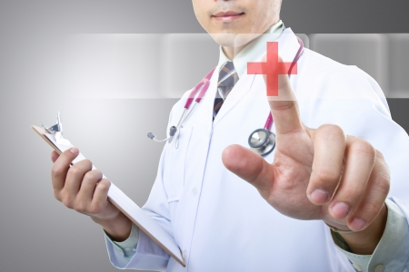 Medical doctor checking your healthy concept  in hospital Stock Photo