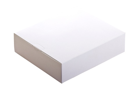 ebox: Blank whtie color box include clipping path with whtie background Stock Photo
