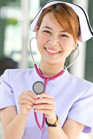Nurse concept in Thailand hospital. Stock Photo