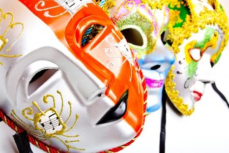 white drama masks in studio Stock Photo - 19495194