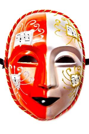 white drama masks in studio Stock Photo - 19495185
