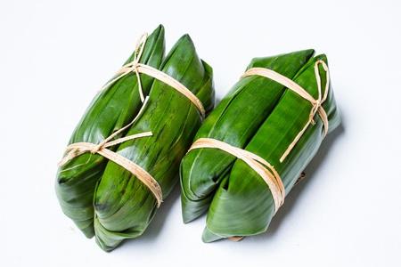 mush: Bunch of mush ,Thai dessert style which insert banana inside to glutinous rice