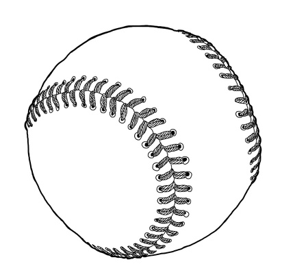 hardball: Baseball with vector Illustration