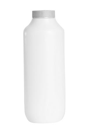 talcum: White Baby talcum powder container with clipping path Stock Photo
