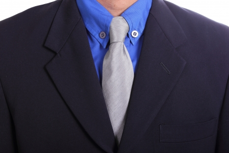 Close up necktie of Businessman in studio photo