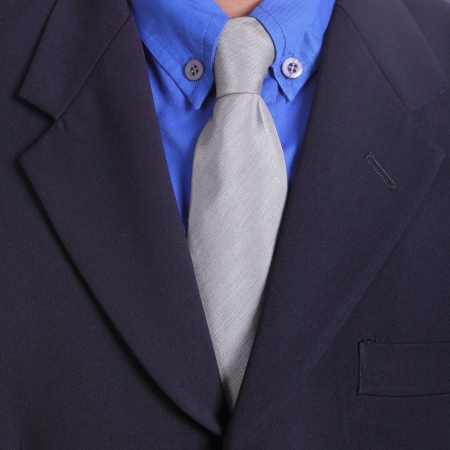Close up necktie of Businessman in studio photo