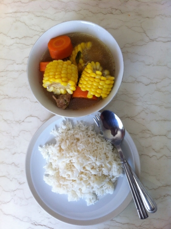 carot: Corn and carrot soup for lunch