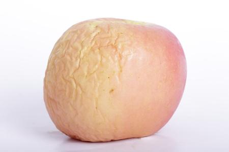 Apple Skin wringkle with white background photo