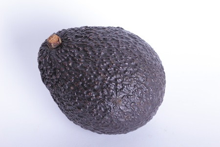 Close up avocado with white background photo