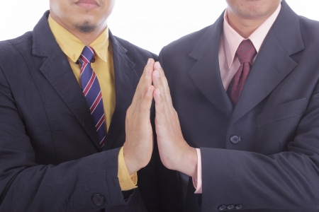 extol: clapping hands for welcome and congratulation for appreciate in the office Stock Photo