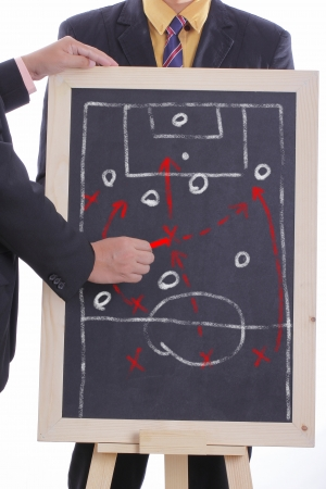 Football manager plan attack game  for match tournament photo