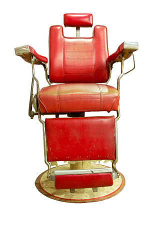 Barber Shop with Old Fashioned Chrome chair photo